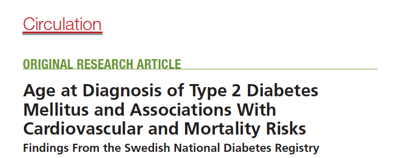 Age of type 2 diabetes associated with cardiovascular & mortality risk